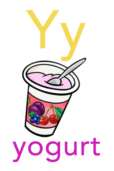 Baby ABC Flashcard - Y for yogurt