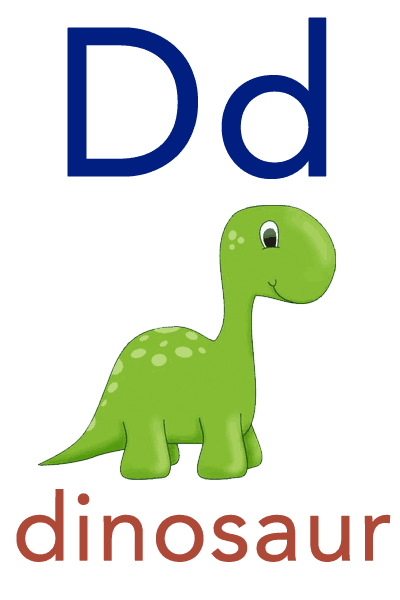 Baby ABC Flashcard - D for dinosaur