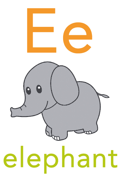 Baby Mozart Flashcard - E for elephant