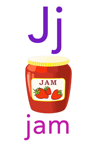 Baby ABC Flashcard - J for jam