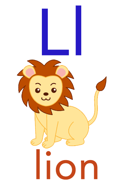 Baby ABC Flashcard - L for lion