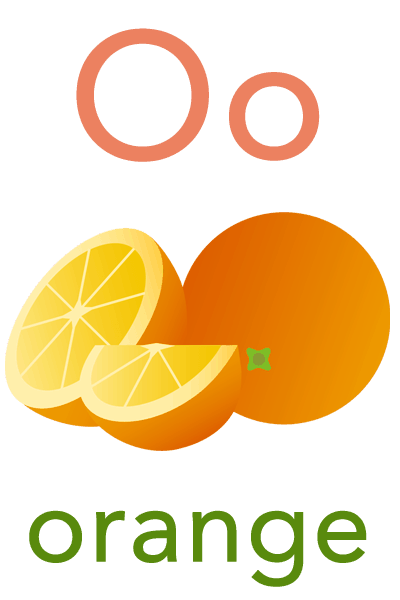 Baby ABC Flashcard - O for orange