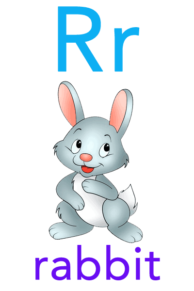 Baby ABC Flashcard - R for rabbit