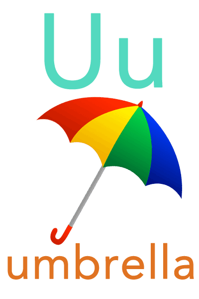 Baby ABC Flashcard - U for umbrella