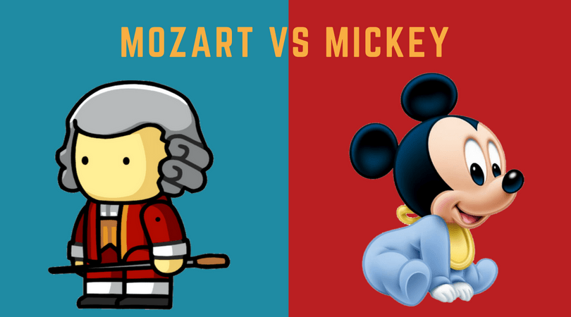 mozart vs mickey